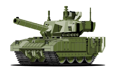 Cartoon modern armored tank. Available EPS-10 vector format separated by groups and layers with transparency effects for one-click repaint.