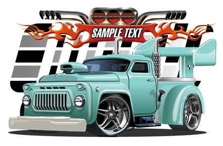 Vector cartoon hotrod. Available EPS-10 separated by groups and layers with transparency effects for one-click repaint Illustration