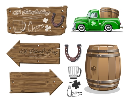 Vector template elements set for decoration Beer festival flyers posters or greeting cards.