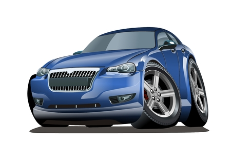 Vector cartoon car. Available EPS-10 separated by groups and layers. Standard-Bild - 109838332