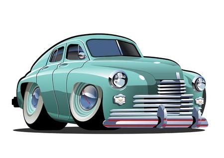 Cartoon Retro Auto. Verfügbares eps-10-Vektorformat, getrennt durch Gruppen und Ebenen mit Transparenzeffekten für ein Repaint mit einem Klick