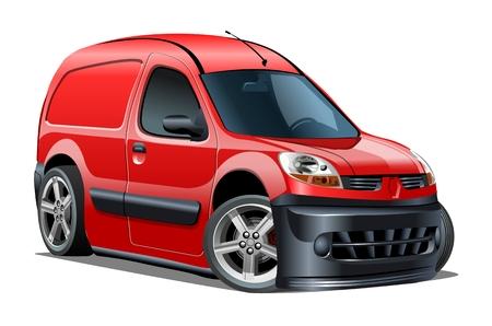 Cartoon delivery van isolated on white background. Standard-Bild - 112132656