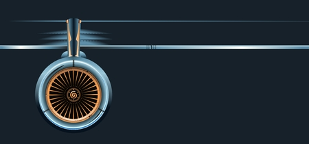 wing with turbine. Available EPS-8 vector format separated by groups and layers for easy edit