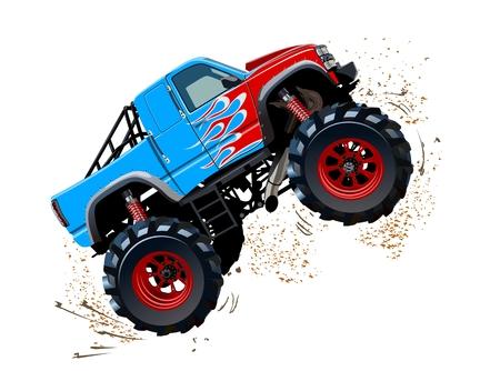 Cartoon Monster Truck. EPS-10 disponible séparé par groupes et calques avec effets de transparence pour repeindre en un clic
