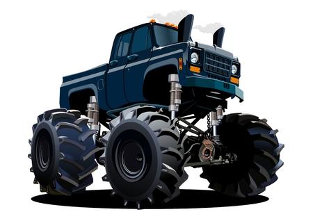 Kreskówka potwór ciężarówka. Dostępny EPS-10 oddzielony grupami i warstwami z efektami przezroczystości do odmalowania jednym kliknięciem