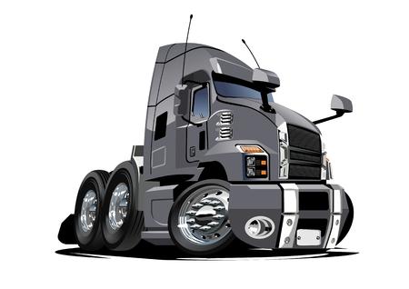 Cartoon semi truck  isolated on white background. 일러스트
