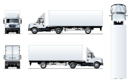 Modèle de camion semi vecteur isolé sur blanc. EPS-10 disponibles séparés par des groupes et des calques pour une modification facile