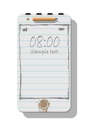 Smartphone metaphore for different advert concepts