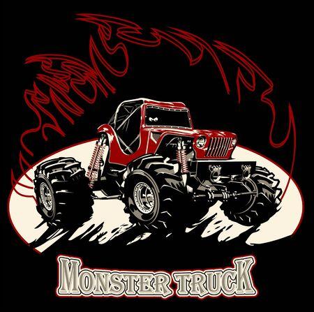 Cartoon Monster Truck Ilustracja
