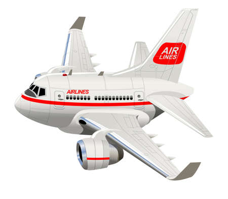 Cartoon Civilian Airplane