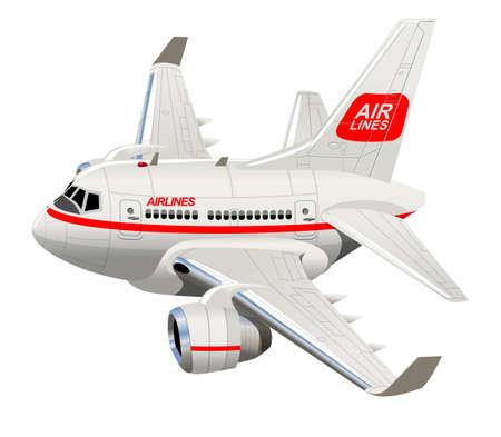 Cartoon Civilian Airplane