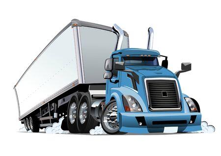 Camion semi-cargo cargo isolé sur fond blanc