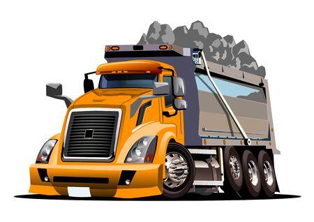 Vector Cartoon Dump Truck Ilustracja