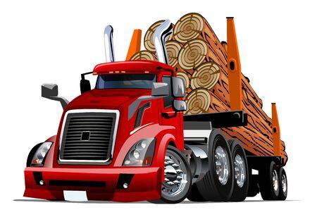 Camion grumier de dessin animé Vecteurs
