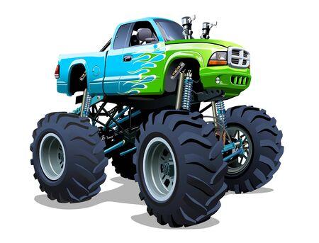 Camion monstre de dessin animé de vecteur Vecteurs