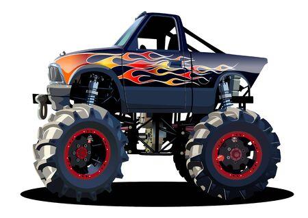 Vektor-Cartoon-Monster-Truck
