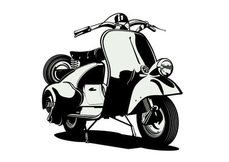 Vector retro scooter