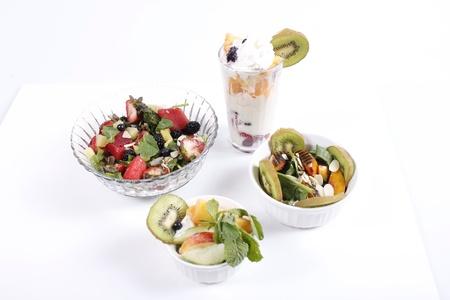 Different healthy fruit arrangements  版權商用圖片