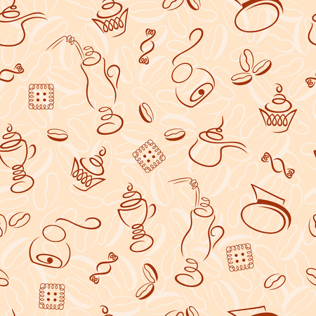 desing: seamless pattern in the coffee category for your desing