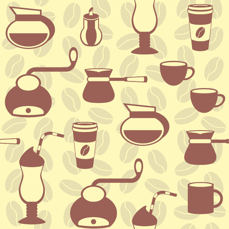 sweetmeats: seamless flat pattern in the coffee category for your desing