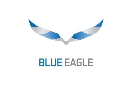 Blue eagle illustration