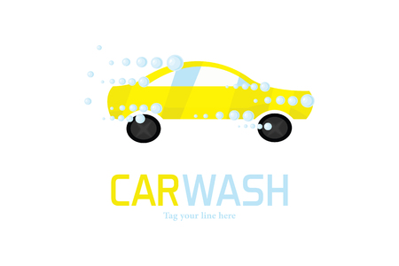 Car wash logo Illustration