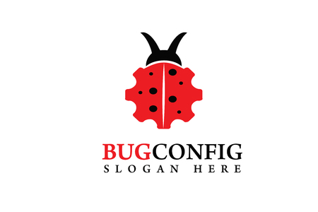 Bug config logo Stock fotó - 89178917