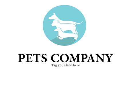 dogs care logo Ilustrace