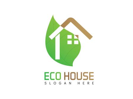 Eco house logo Illustration