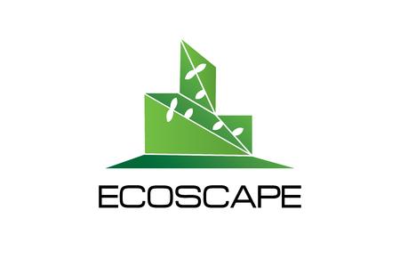 Ecoscape logo Stock fotó - 89178970