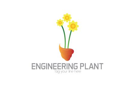 Enginering floral logo Stock fotó - 90799391
