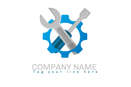 Engineering tools logo Stock fotó - 90799394