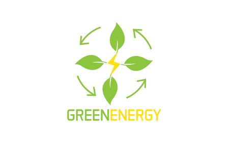 Green Energy logo Stock fotó - 90799469
