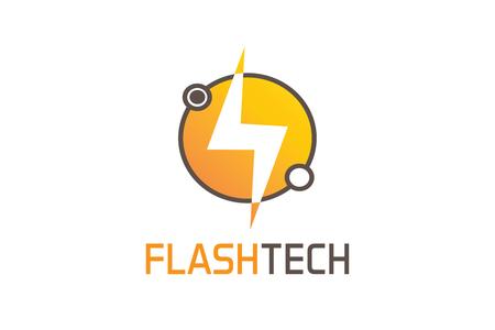 Flash tech logo Stock fotó - 90735892