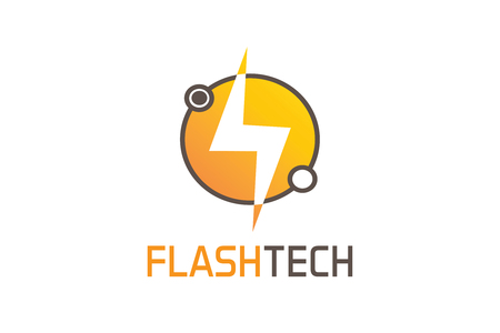 Flash tech logo Vectores