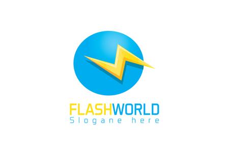 Flash world logo Ilustrace