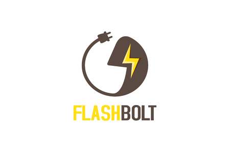 Flash bolt logo Stock fotó - 90735896