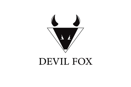 Devil fox animal logo Stock fotó - 90735900