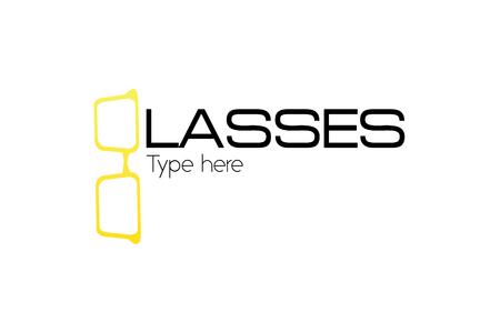 g letter glasses logo Stock fotó - 90735905