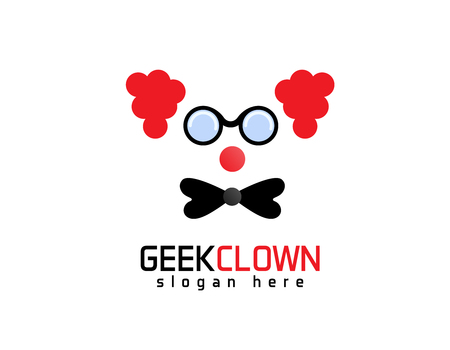 Geek Clown logo Stock fotó - 90736052