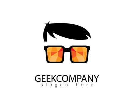 Stylish Geek logo Stock fotó - 90800967