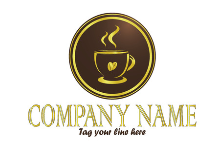 Gold coffee cup logo