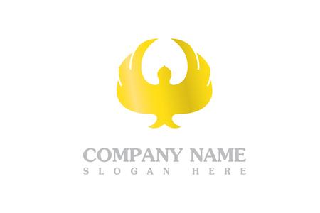 Gold eagle logo Stock fotó - 90800969