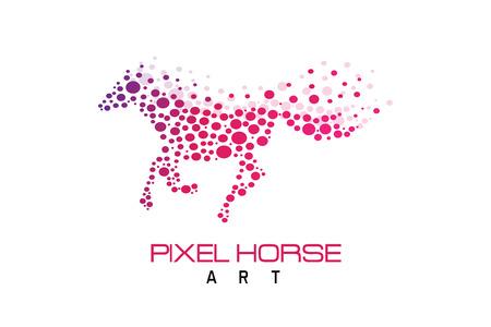 Pixel horse Stock fotó - 92340395