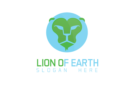 King of earth Lion Planet logo Stock fotó - 90800972