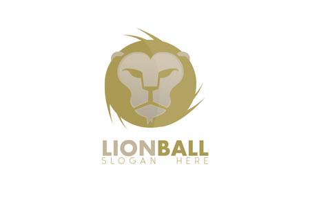 Lion ball logo Stock fotó - 110625077