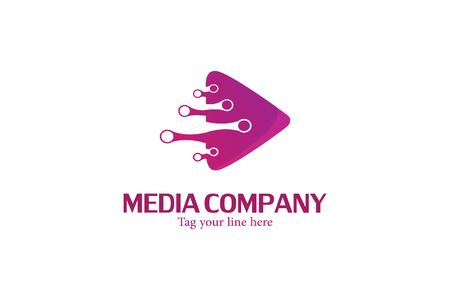 Motion video media logo Stock fotó - 110625085