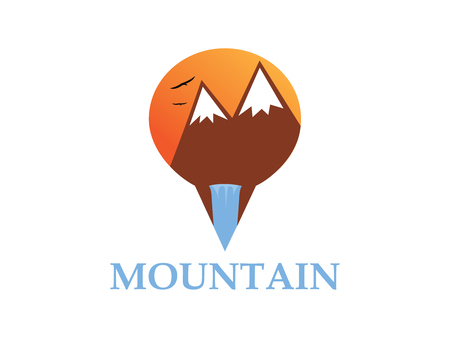 Mountain Travel logo Ilustração