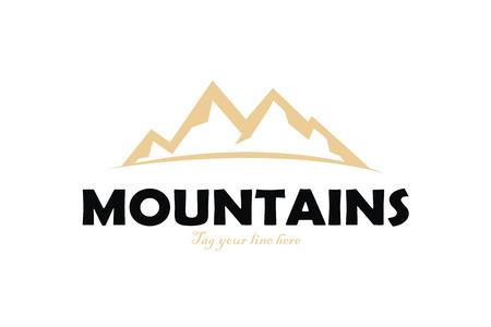 mountains logo Stock fotó - 110625101