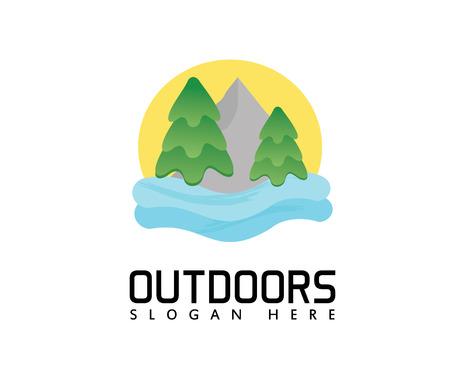 Outdoors logo Illusztráció